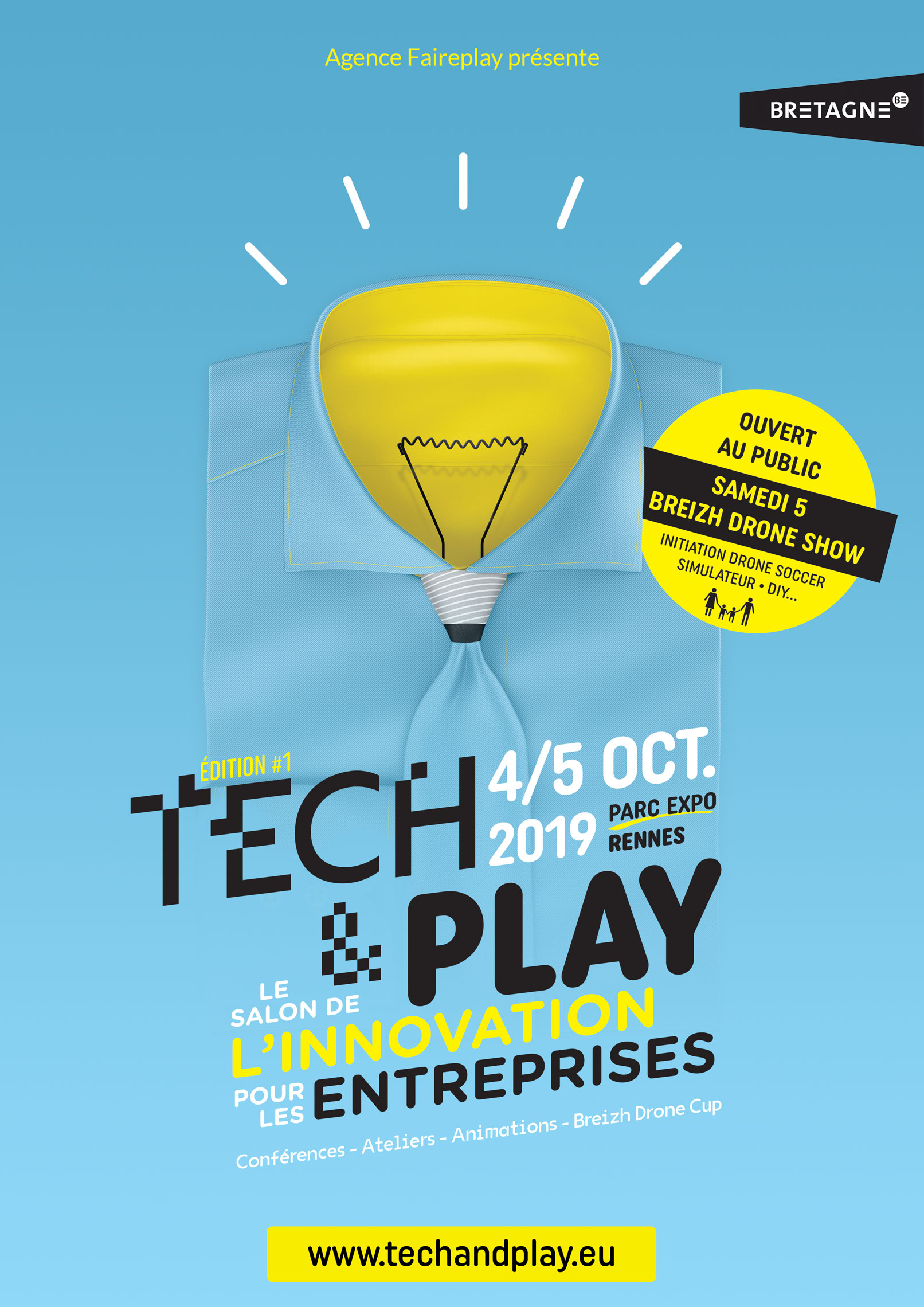 Salon Tech&Play, Parc Expo, Rennes, 4-5 octobre 2019 + Breizh Drone Show